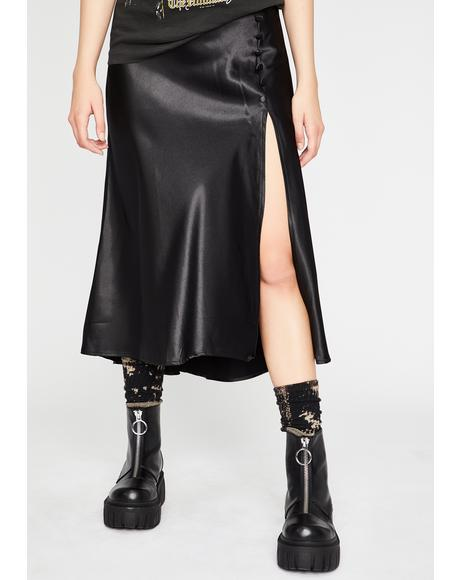 Wicked Mood Satin Skirt