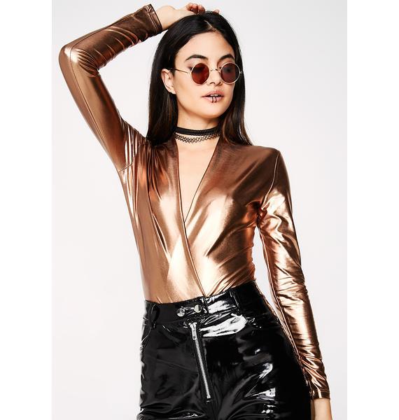 Gold Milla Metallic Bodysuit