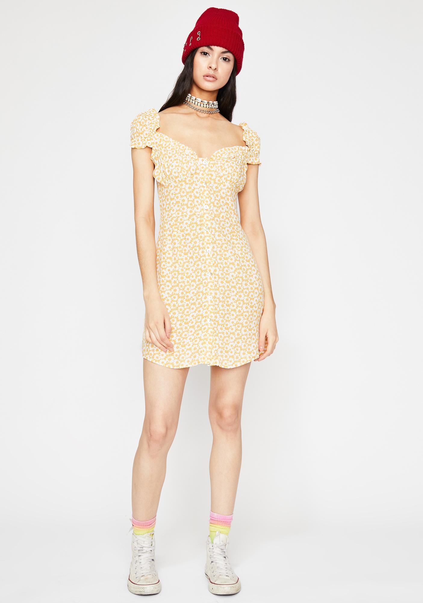 Sunny Rarest Daisy Floral Dress