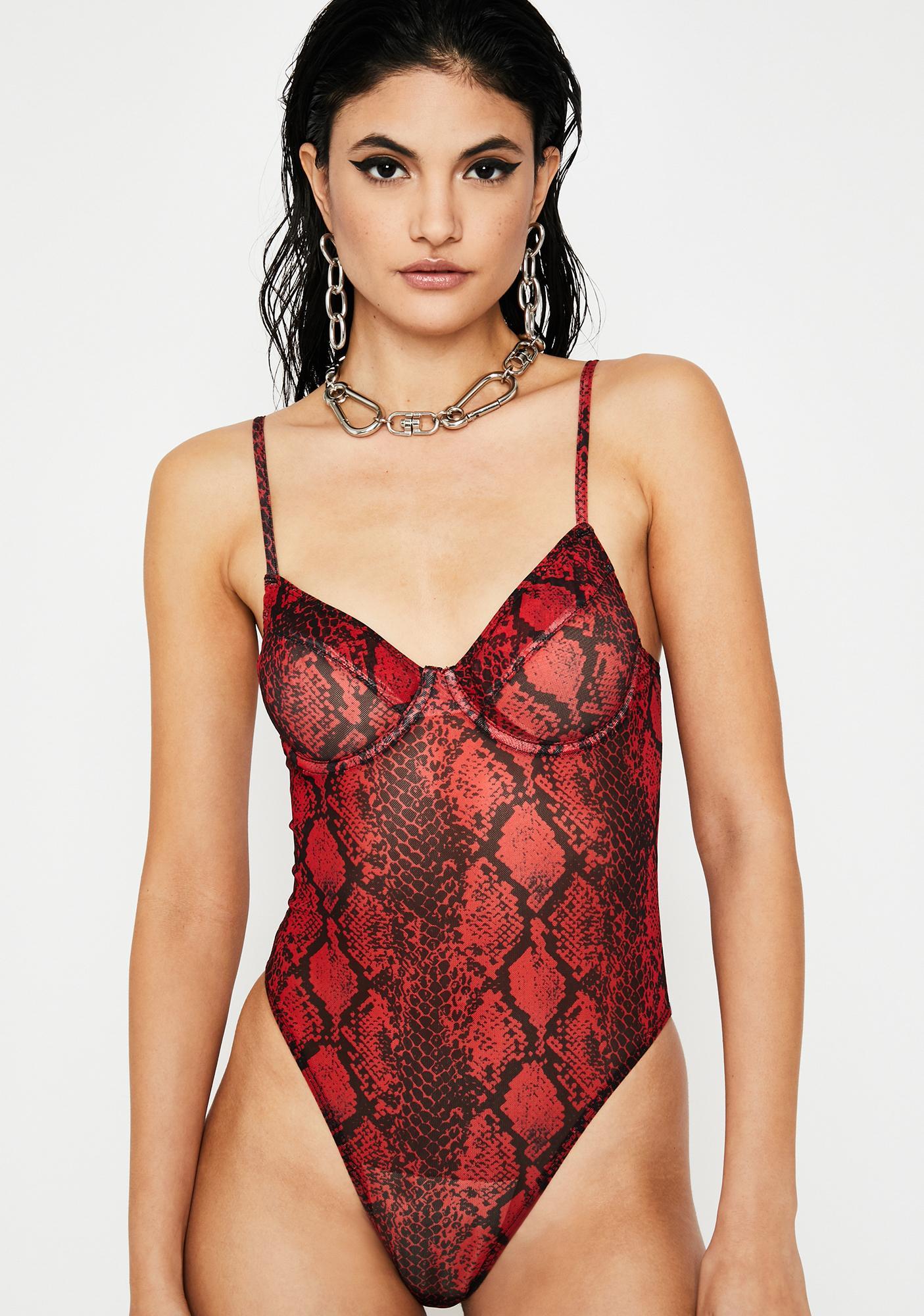 d6c7d734b9 Spicy Vile Qween Snake Skin Bodysuit