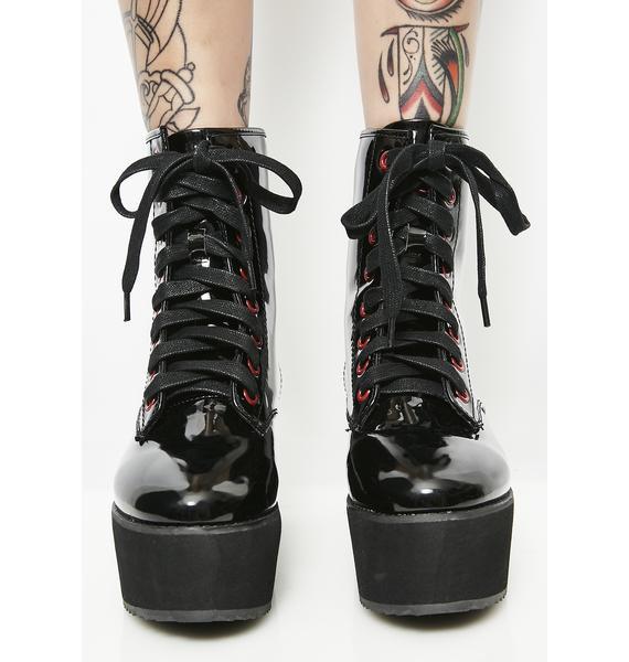 Strange Cvlt Stomp Hi Patent Boots