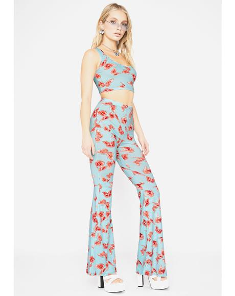 Dreamy Sugar High Butterfly Pant Set