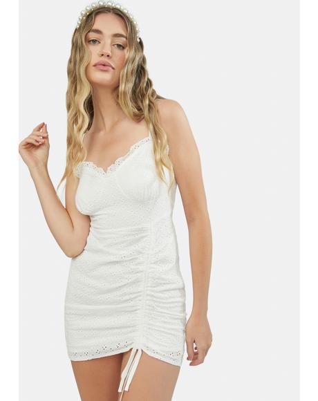Moonlight Dance Ruched Side Mini Dress