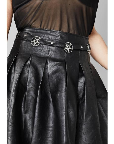 Deadly Magical Manifestation Pleated Skirt