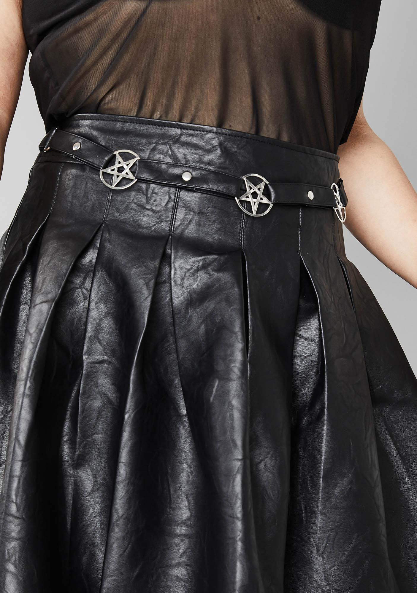 Widow Deadly Magical Manifestation Pleated Skirt