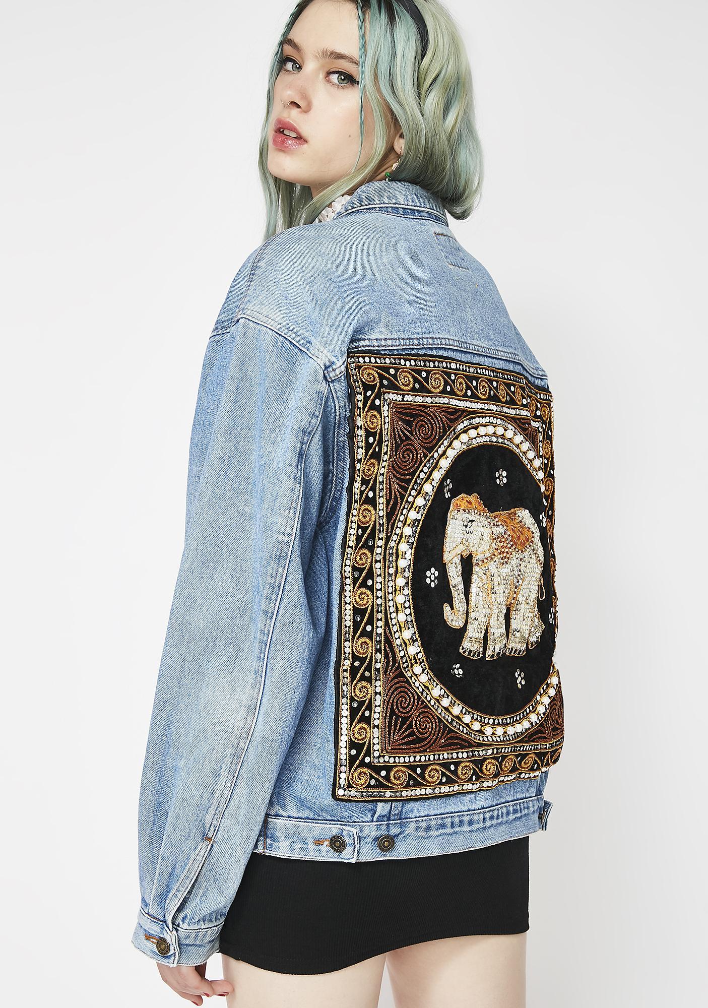 Elsie & Fred Boho Baddie Embroidered Jacket