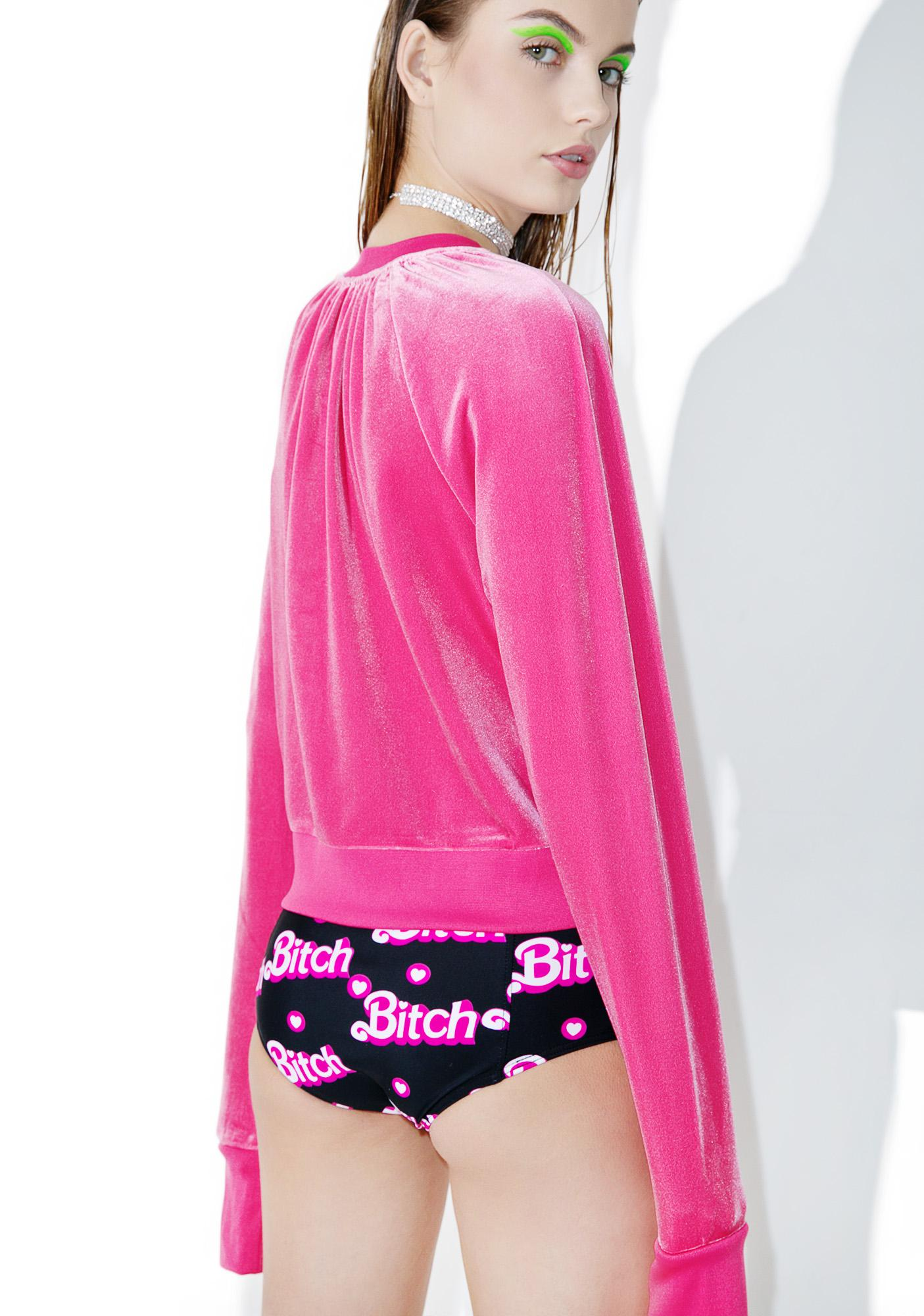 Cheap Monday Pink Velvet Sweater