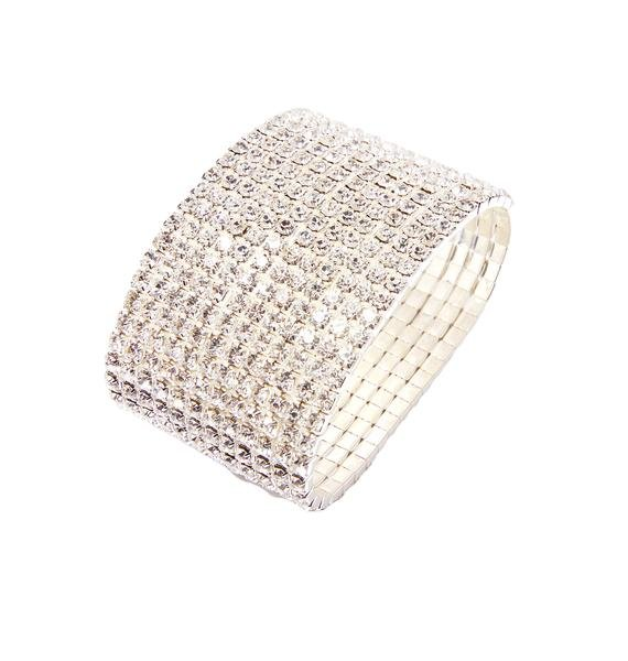 Cold As Ice Rhinestone Bracelet