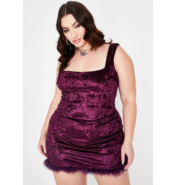 Plum I Still Look Pretty Velvet Dress