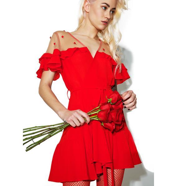For Love & Lemons Little Rosette Robe