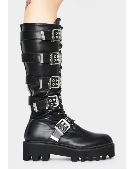 Lockdown Knee High Boots