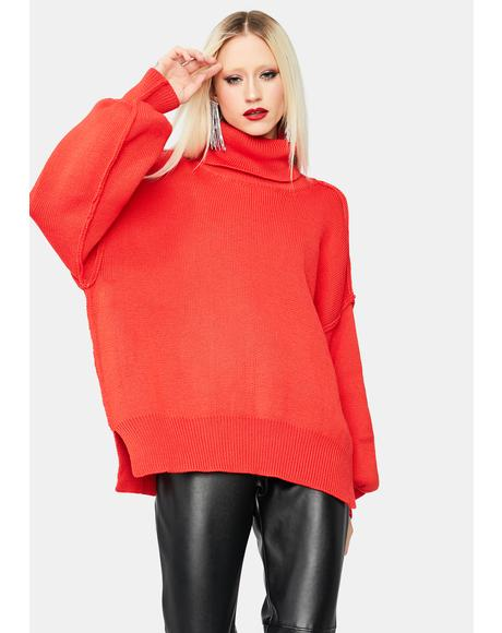 Smile Seeker Turtleneck Sweater