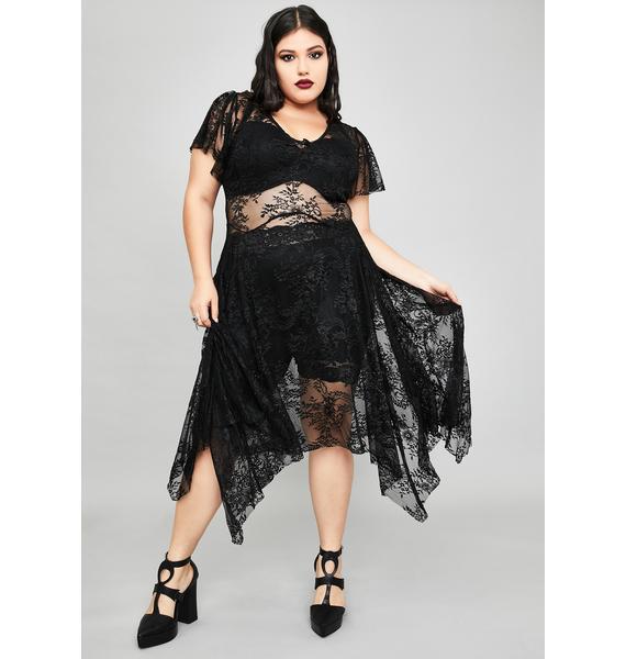 Widow Noir So Dearly Departed Lace Dress