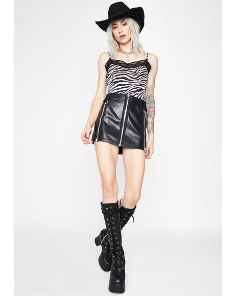 Hillside Harlot Zebra Bodysuit