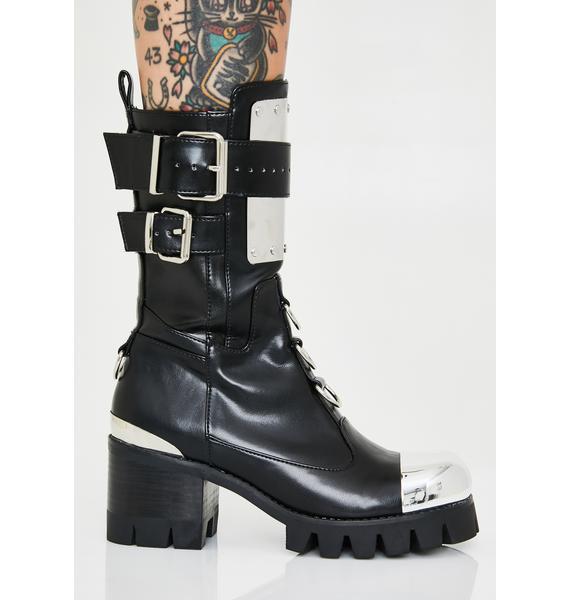 Club Exx Immortal Chromance Moto Boots
