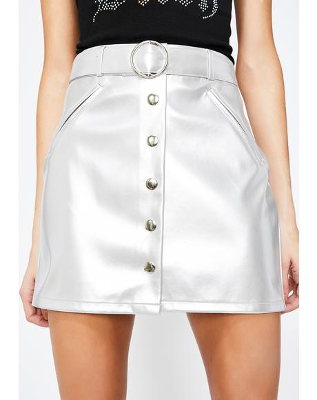 City Nightz Patent Skirt