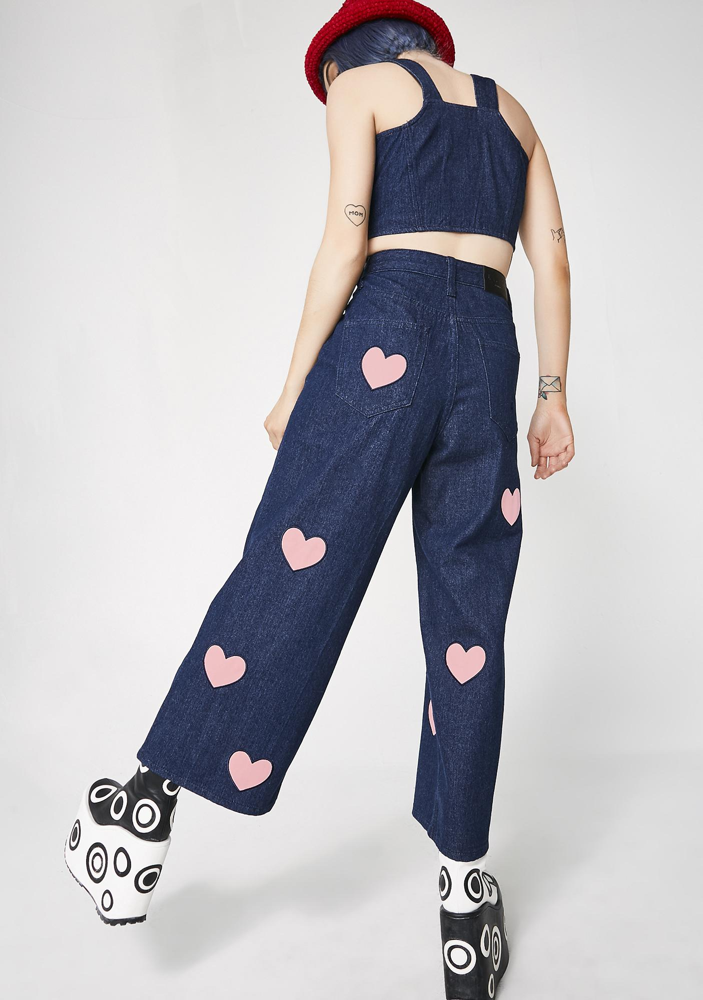 Lazy Oaf Heart Cut Out Jeans