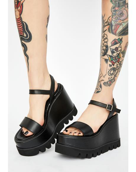 Breakup Ballads Leather Platform Sandals