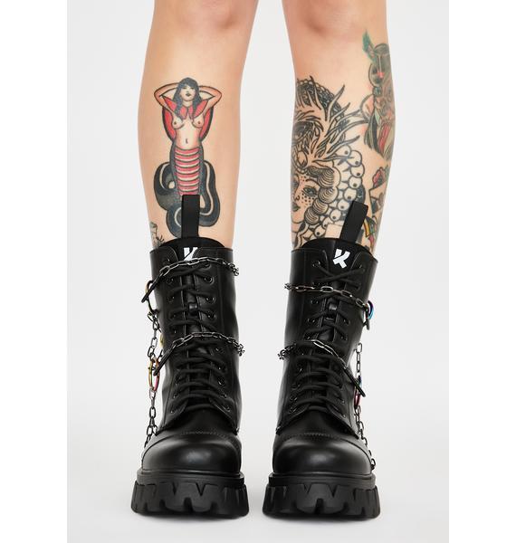 Koi Footwear Black Cyrus Ankle Boots