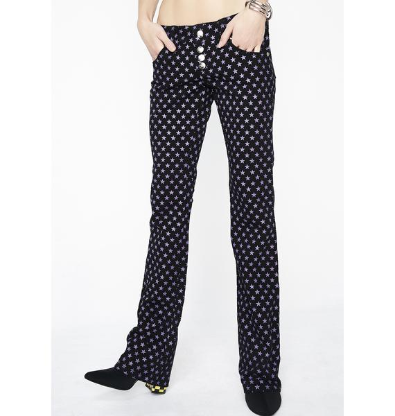 Tripp NYC Denim Button Front Flare Jeans