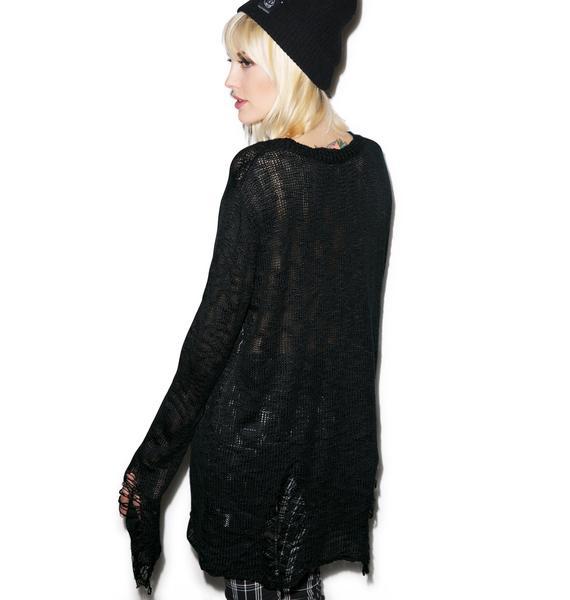 Killstar Hexagram Knit Sweater