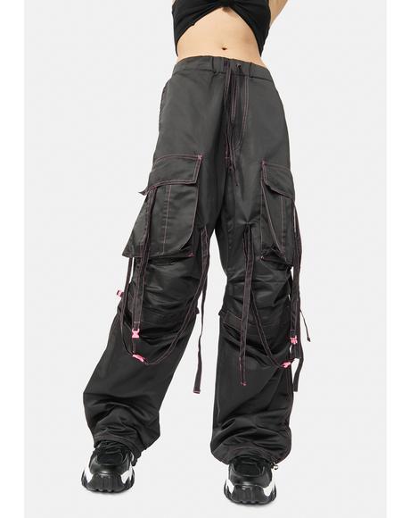 Black Techwear Shuffle Pants