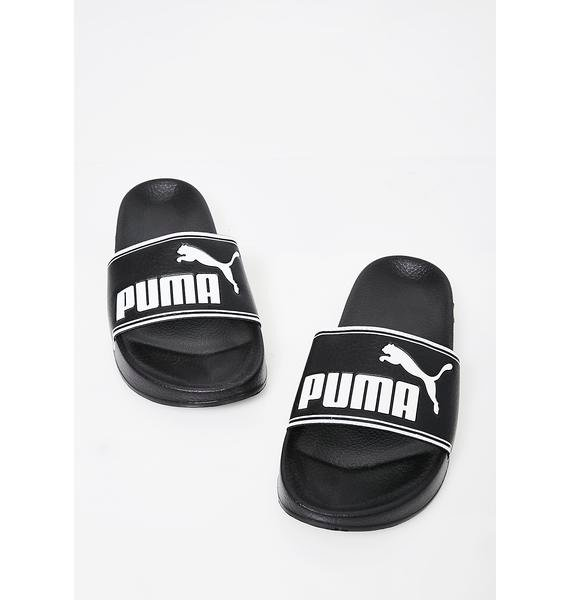 PUMA Midnight Leadcat Slides