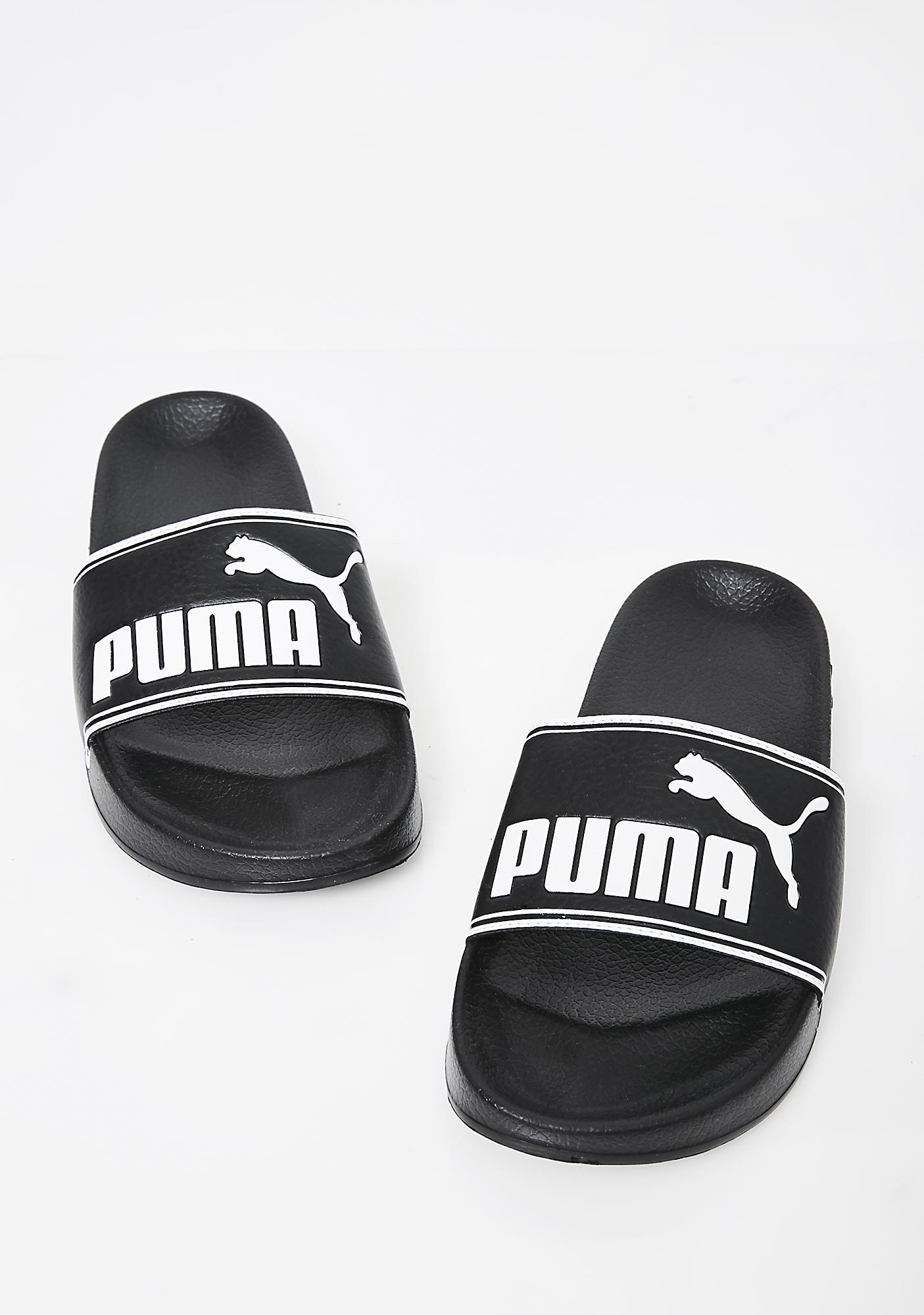 PUMA Midnight Leadcat Slides