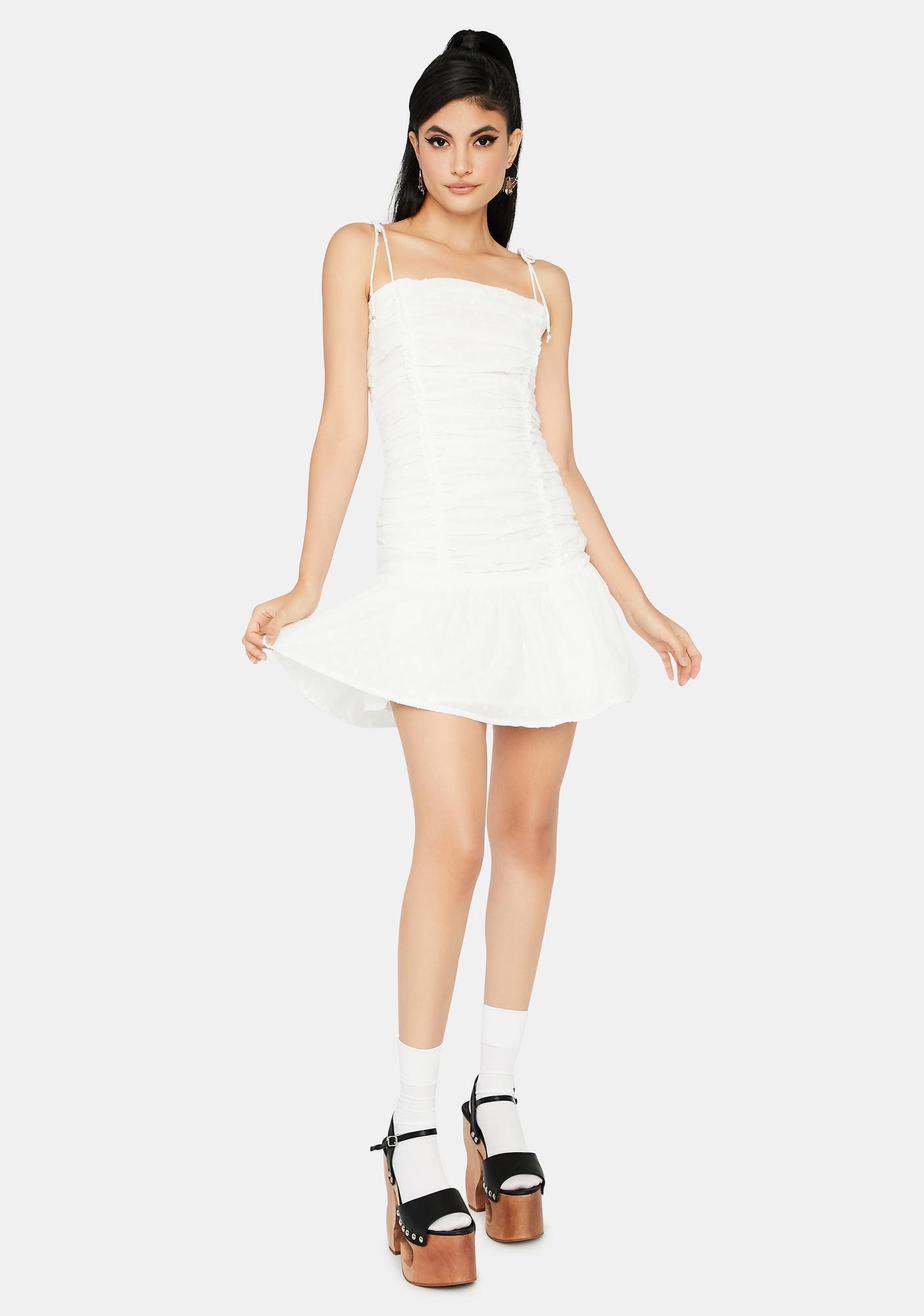 Quartz Elegant Tea Party Ruched Dress