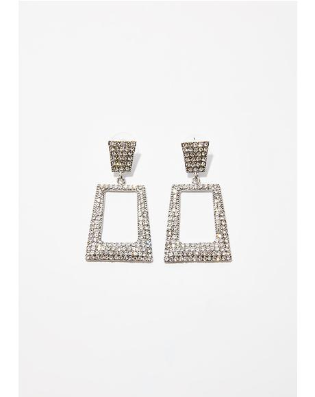 Rags To Riches Rhinestone Earrings