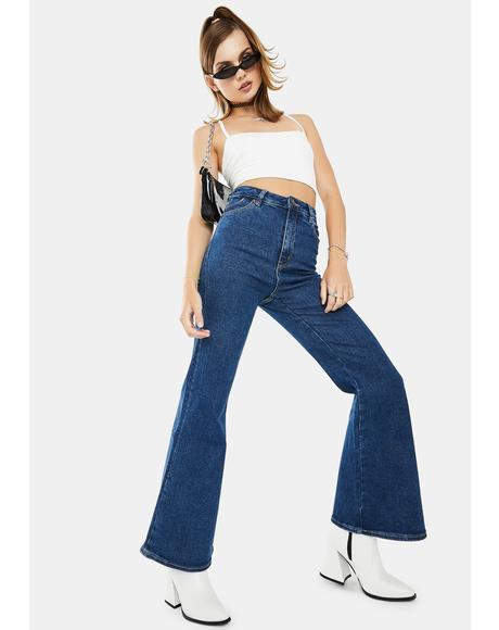 Bayside Blue Eastcoast Crop Flare Jeans