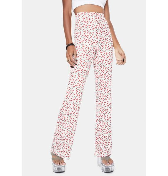 Purely Berry Cherry Love Flare Pants