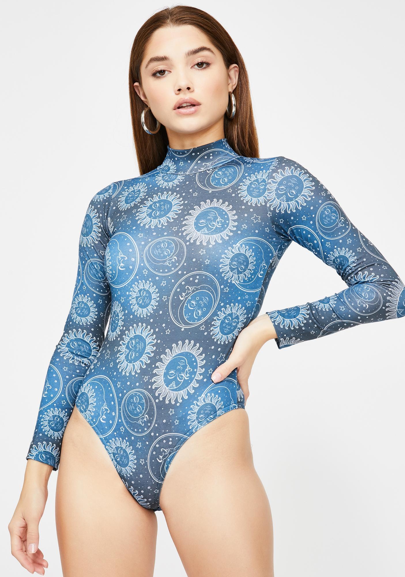 Minga Cosmos Long Sleeve Bodysuit