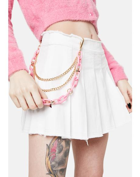 Kiss You Again Chain Link Belt