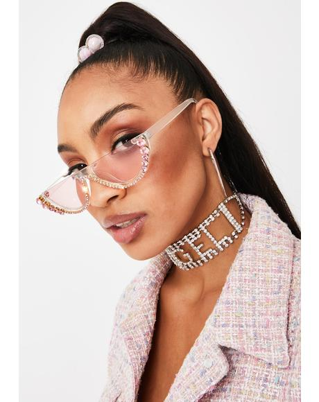 True Diva Rhinestone Sunglasses