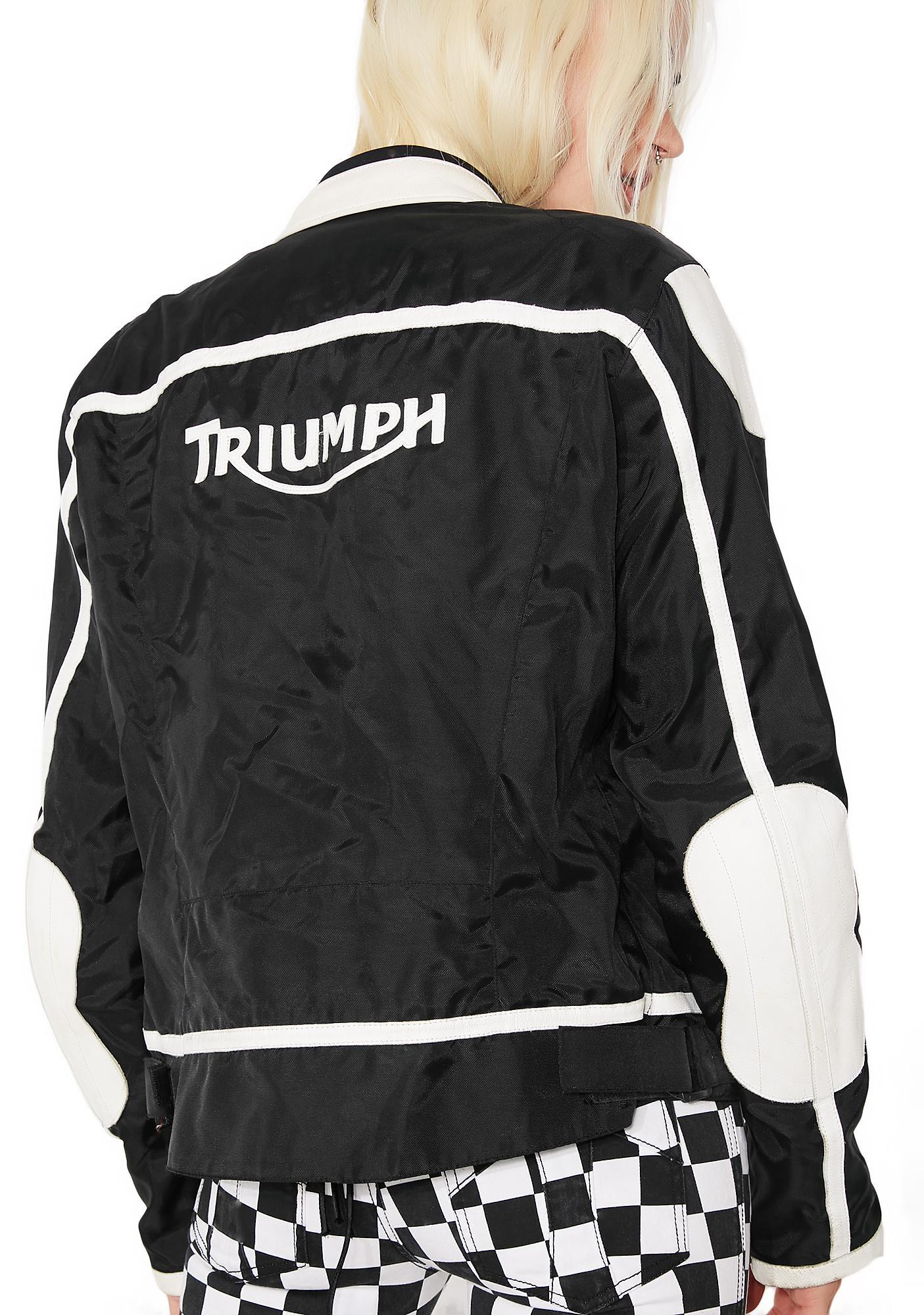 Vintage Triumph Black Racing Jacket