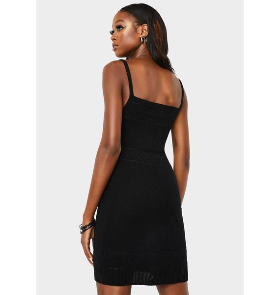 Runaway the Label Rose Knit Mini Dress