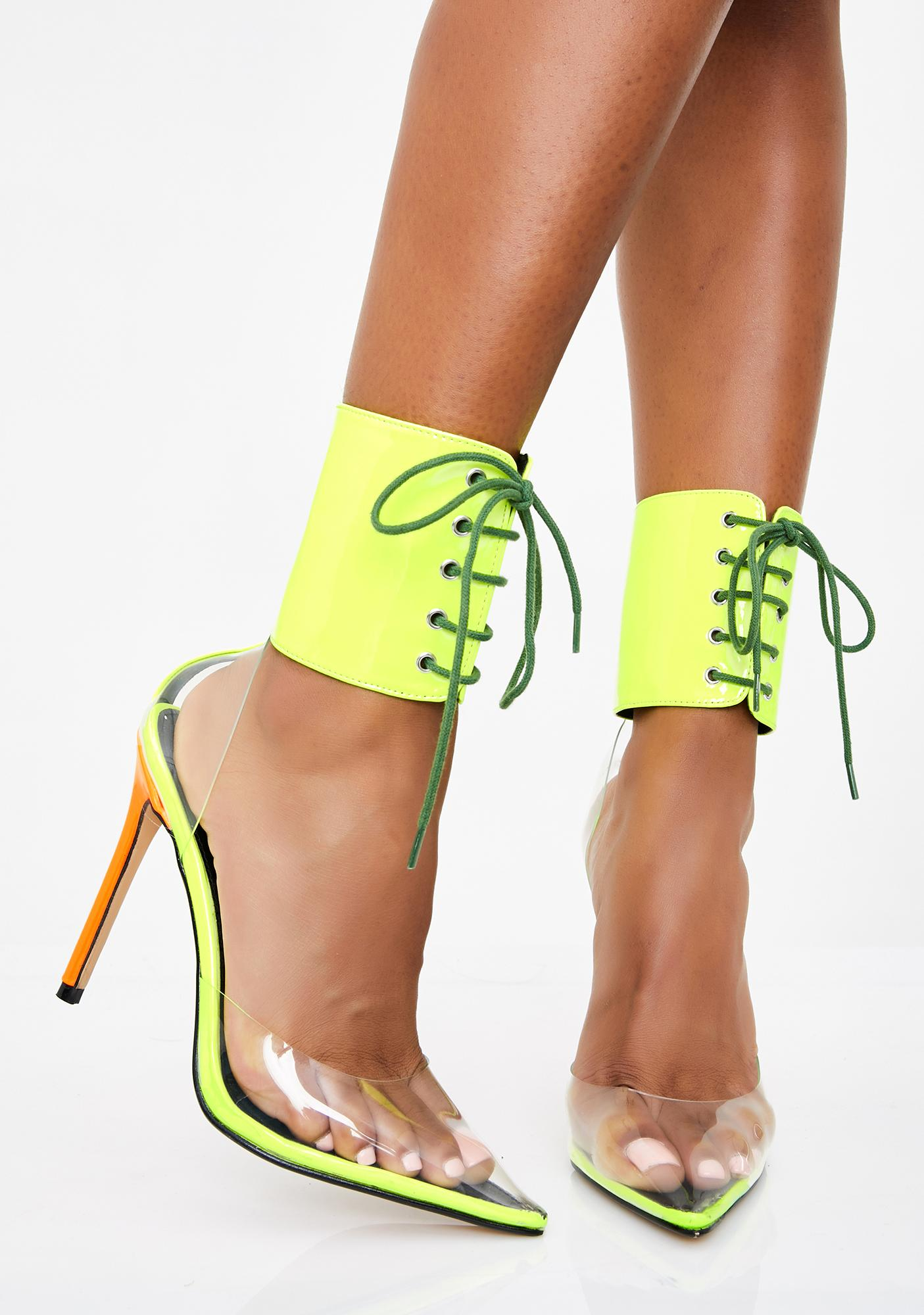Play To Slay Lace Up Heels