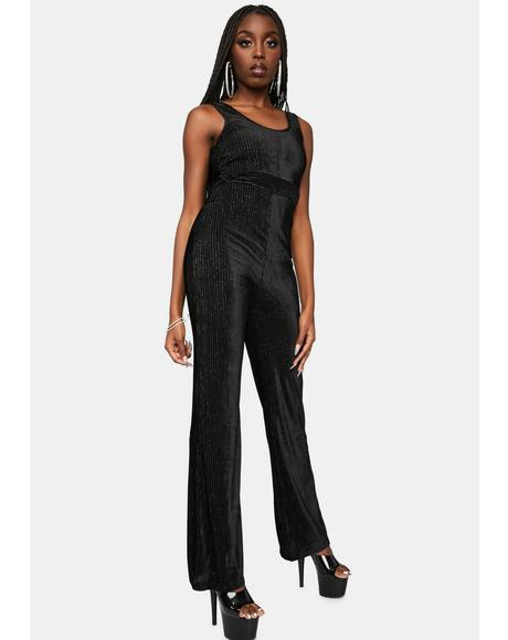 Flashback Shine Velvet Jumpsuit