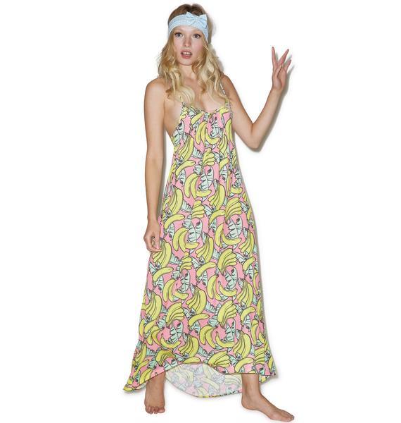 Wildfox Couture Banana Print Margarette Dress