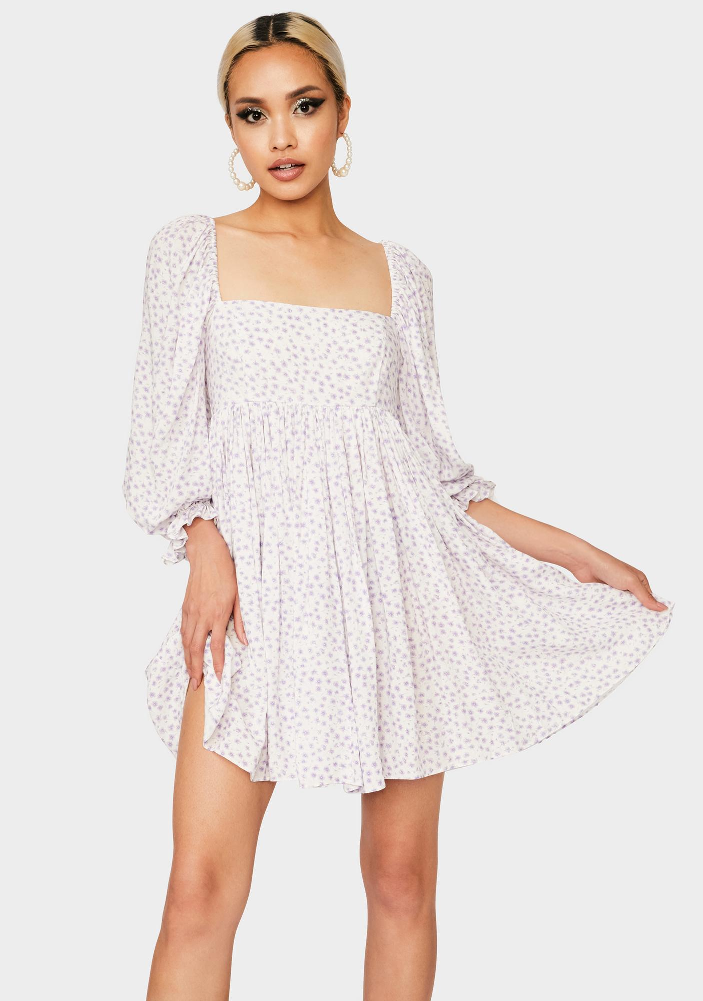 Selkie Sweet Daisy Floral Puff Dress