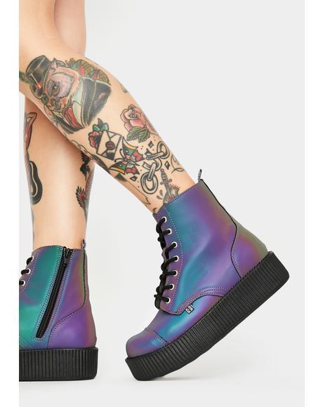 Midnight Chameleon Reflective Viva Mondo Boots