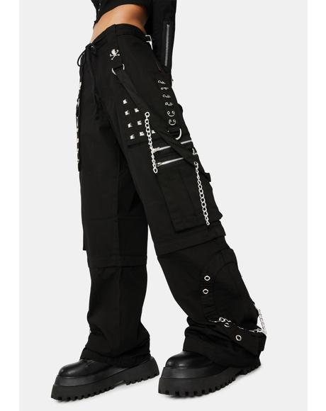Black Step Chain Pants