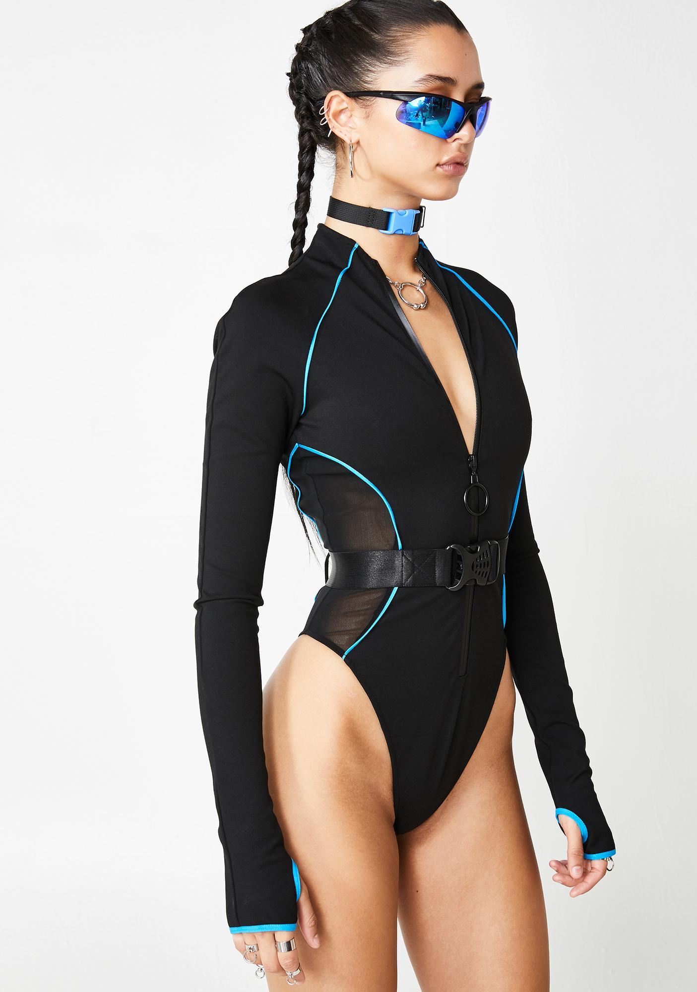 Poster Grl Executive Suite Zip Up Bodysuit