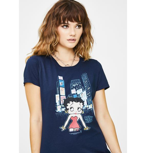 Trevco Betty Boop Square Graphic Tee