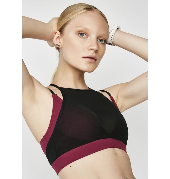Merlot Over It Sports Bra