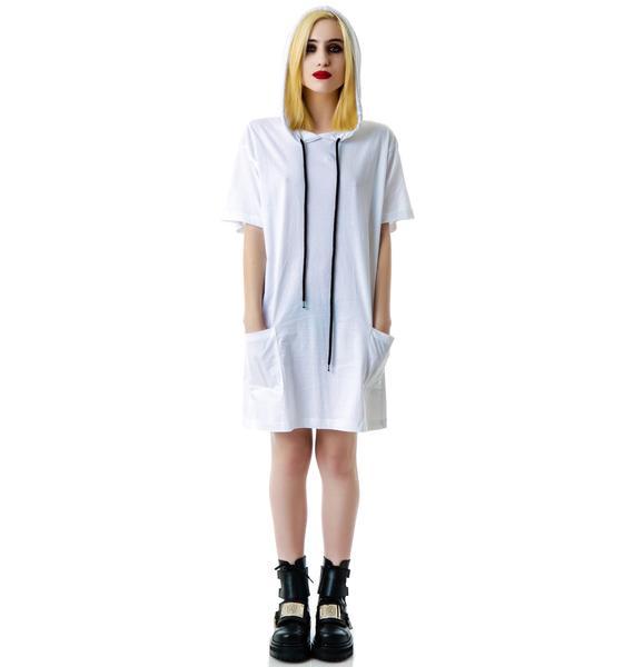 Long Clothing Hooded Tee Shirt
