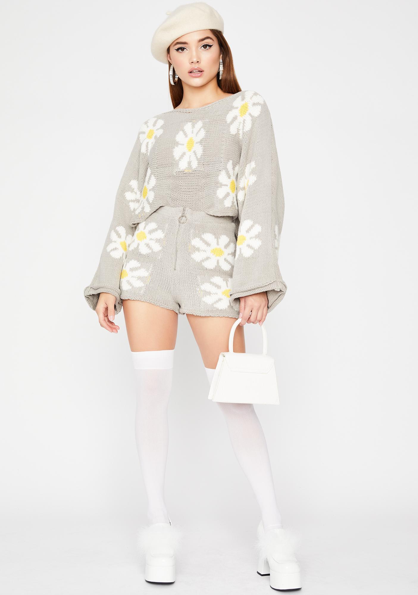 Daisy Daydream Knit Shorts