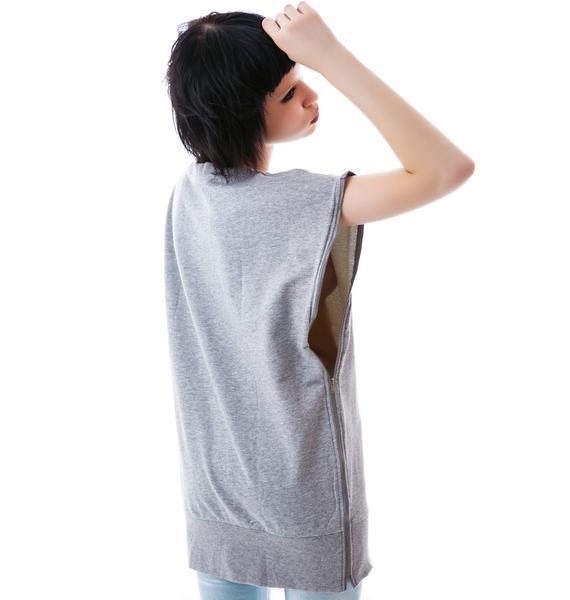 Zip Me Up Cut Off Sweatshirt