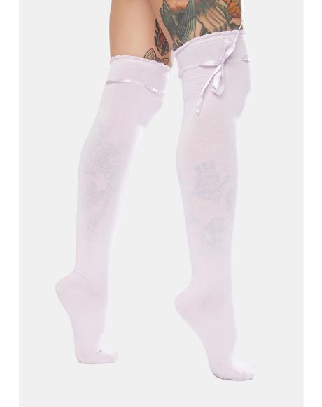 Lilac Quiet Dreams Knee High Socks